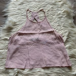 Pastel halter crop top